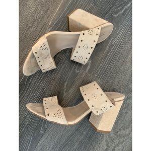 Melrose & Market suede Rya heeled sandals 8.5